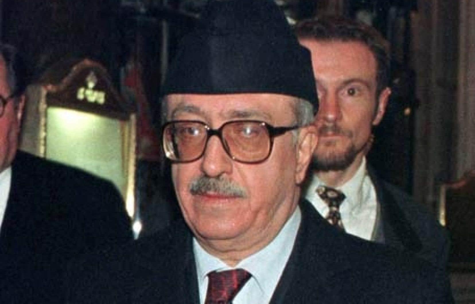 Tarek Aziz à la fin des années 90<br />