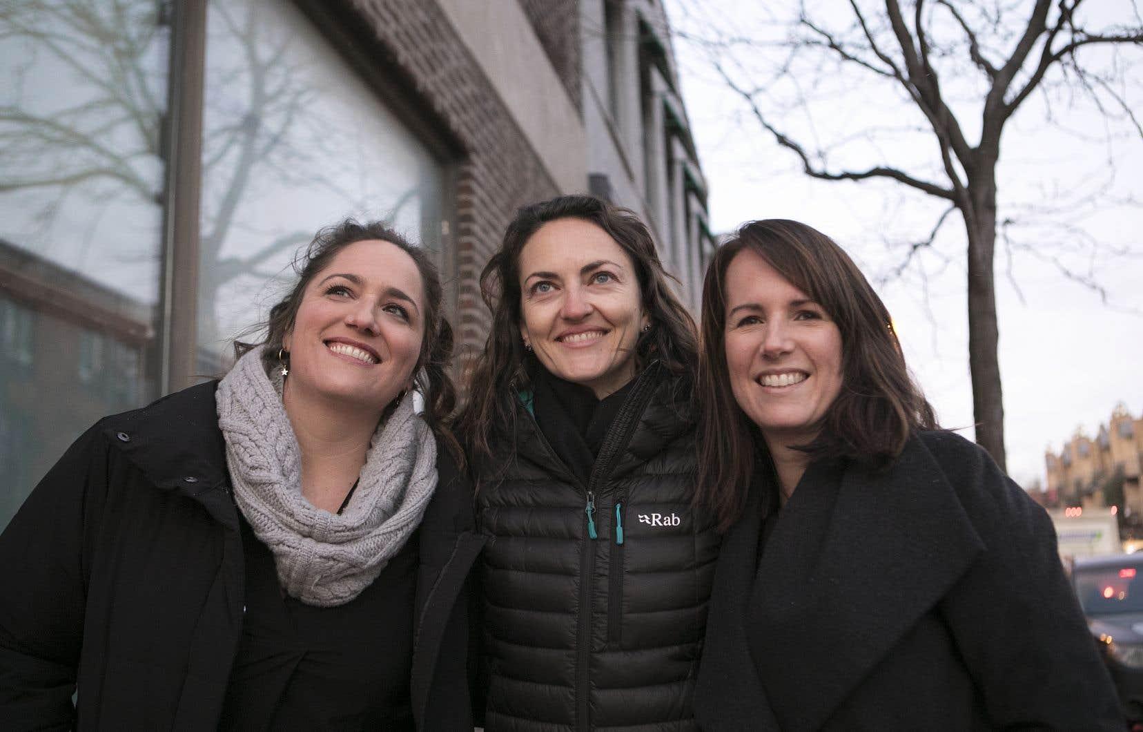 Les autrices Caroline Huard, Catherine Lefebvre et Geneviève O'Gleman