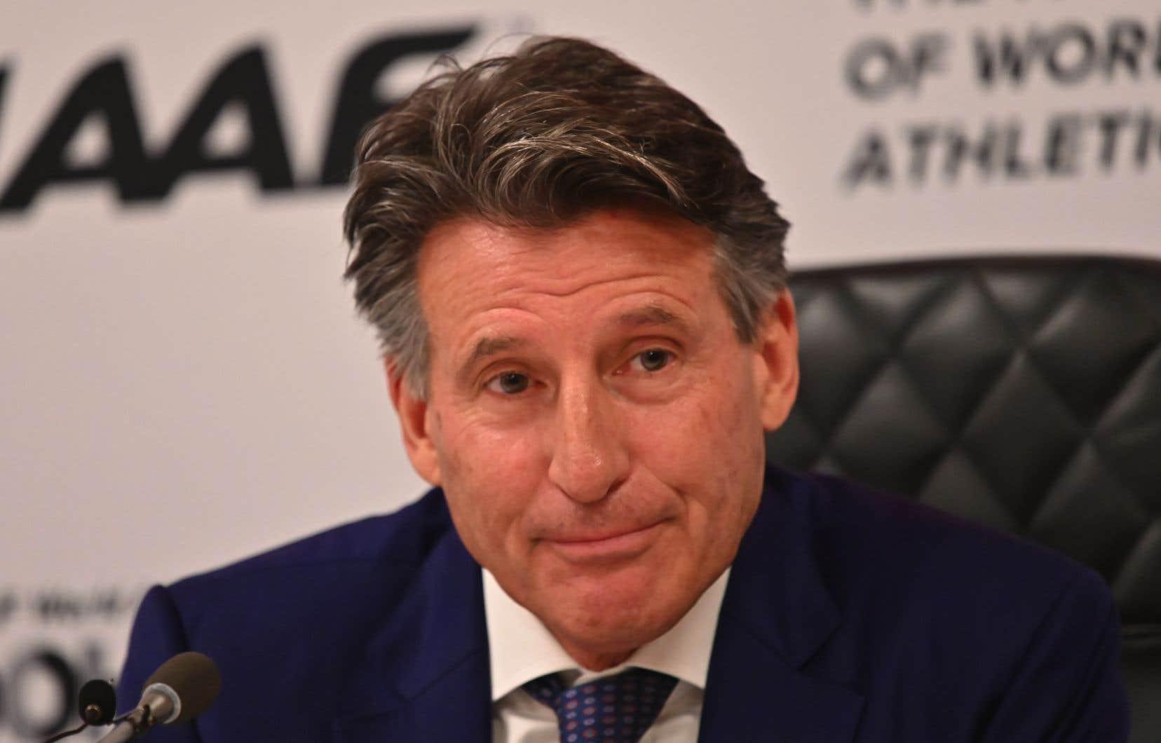 Le président de la Fédération internationale d'athlétisme, Sebastian Coe