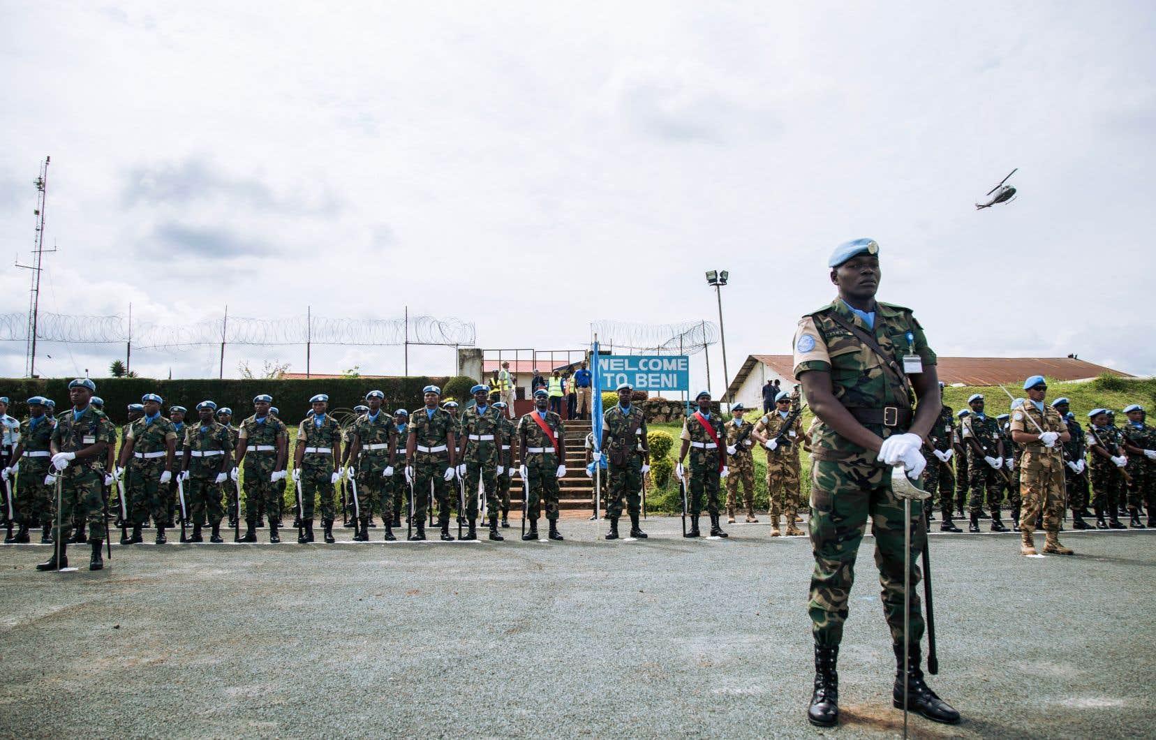 La Mission des Nations unies au Congo se retrouve prise entre deux feux: cible de la population, elle n'a pourtant pas été sollicitée par l'armée congolaise dans son offensive lancée contre les ADF le 30octobre.