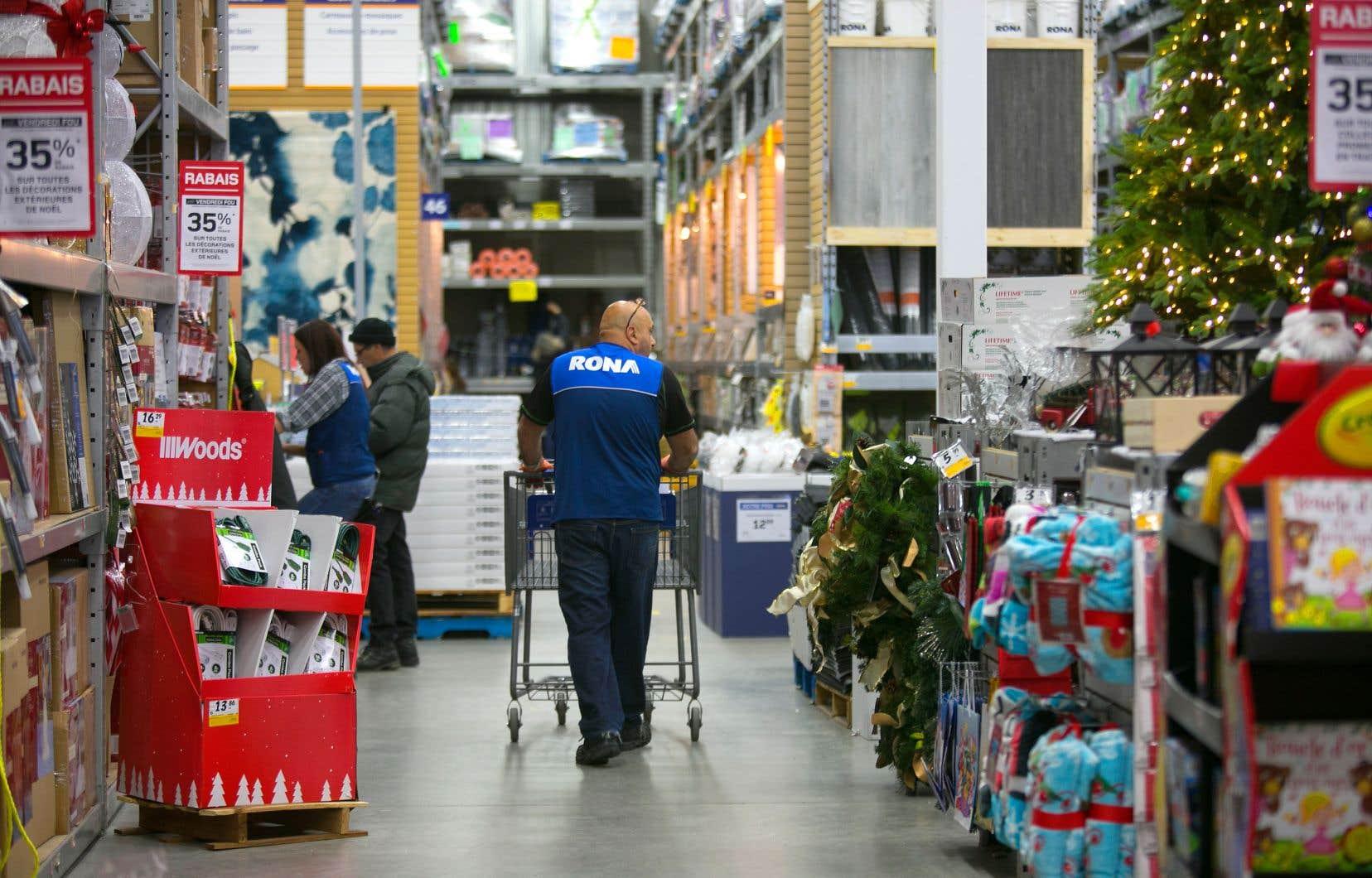 L'enseigne Rona compte des centaines de magasins qui lui appartiennent en propre, mais il y a également de nombreux marchands-propriétaires affiliés pour lesquels Rona est un fournisseur.
