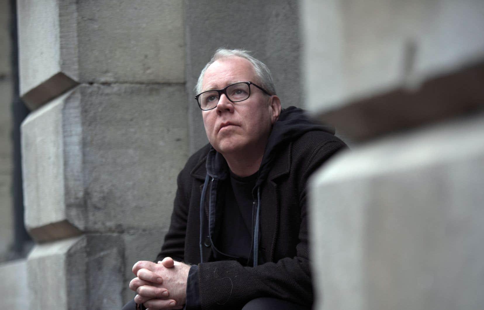 Bret Easton Ellis est de passage à Montréal à l'occasion du Salon du livre.