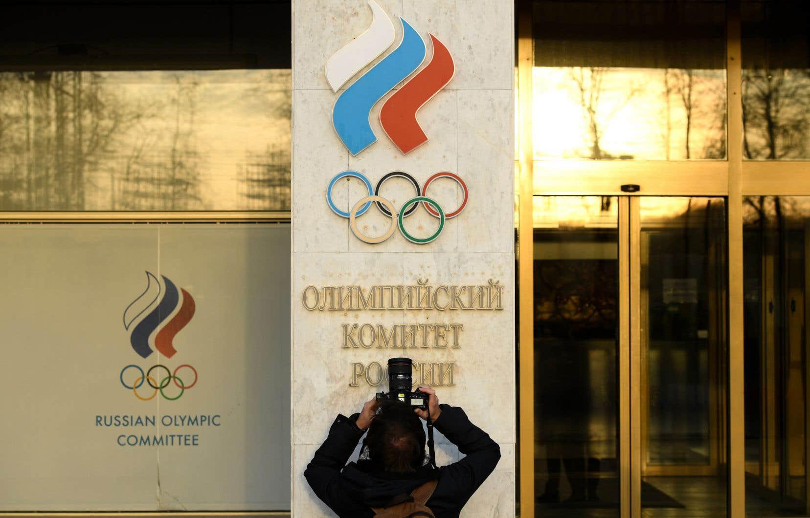 Le quartier général du comité olympique russe, à Moscou