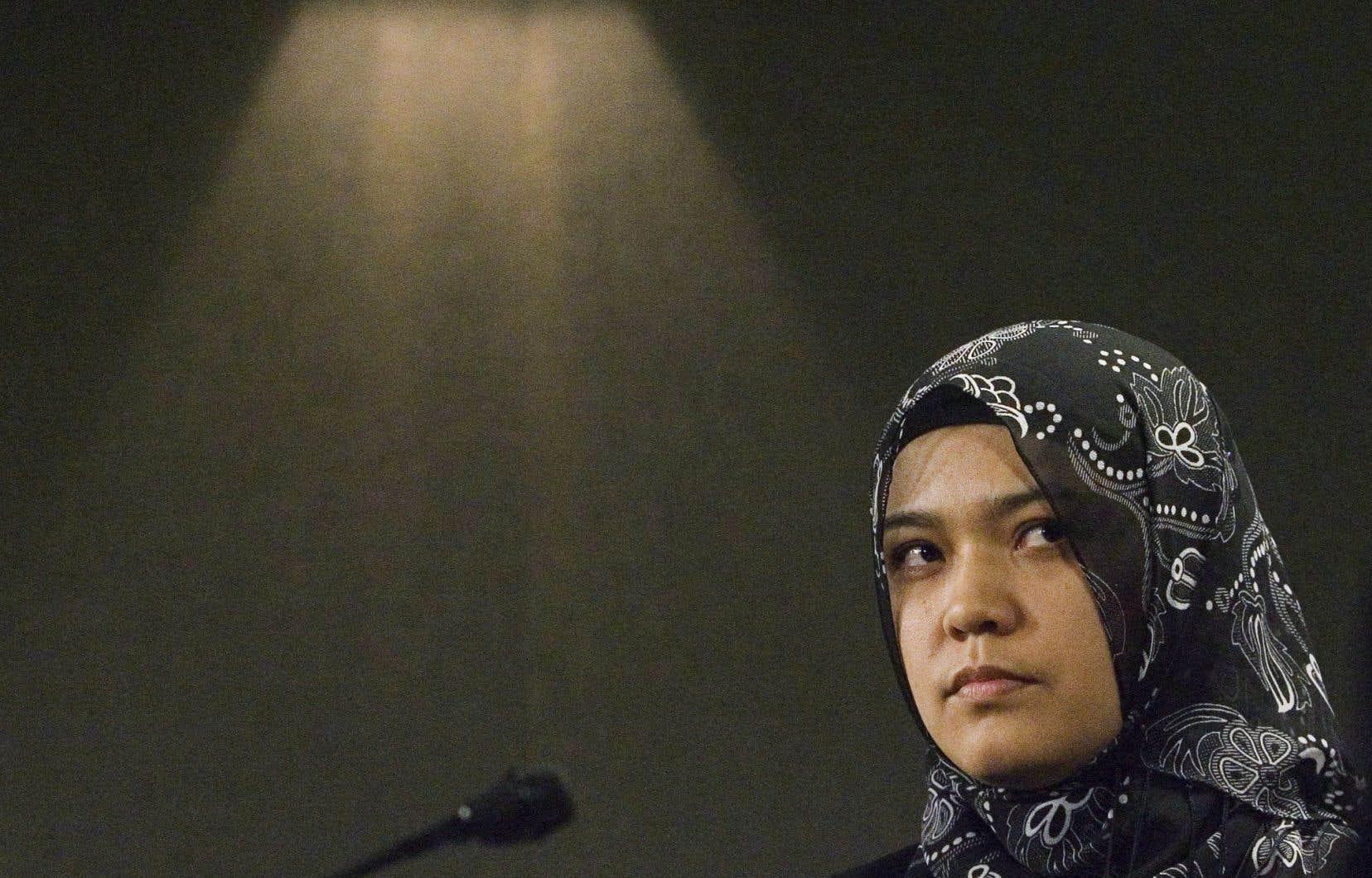 Kamila Talendibaeva, la femme de Huseyin Celil, un ancien militant ouïgour devenu citoyen canadien et emprisonné en Chine depuis 13 ans
