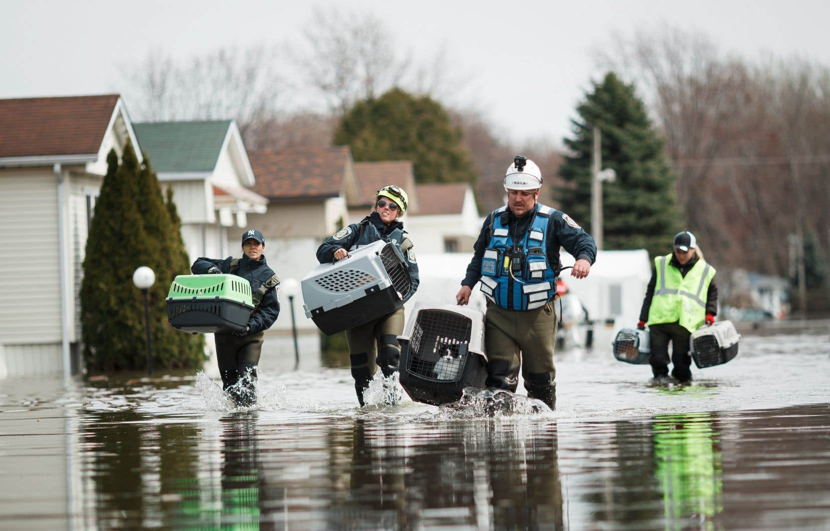 Des milliers de résidents de Sainte-Marthe-sur-le-Lac ont été évacués lors des inondations, en avril dernier.