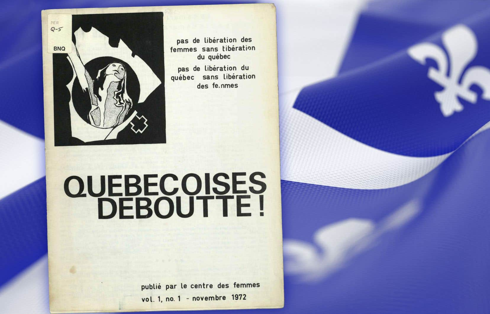 Couverture du journal «Québécoises Deboutte!», novembre 1972