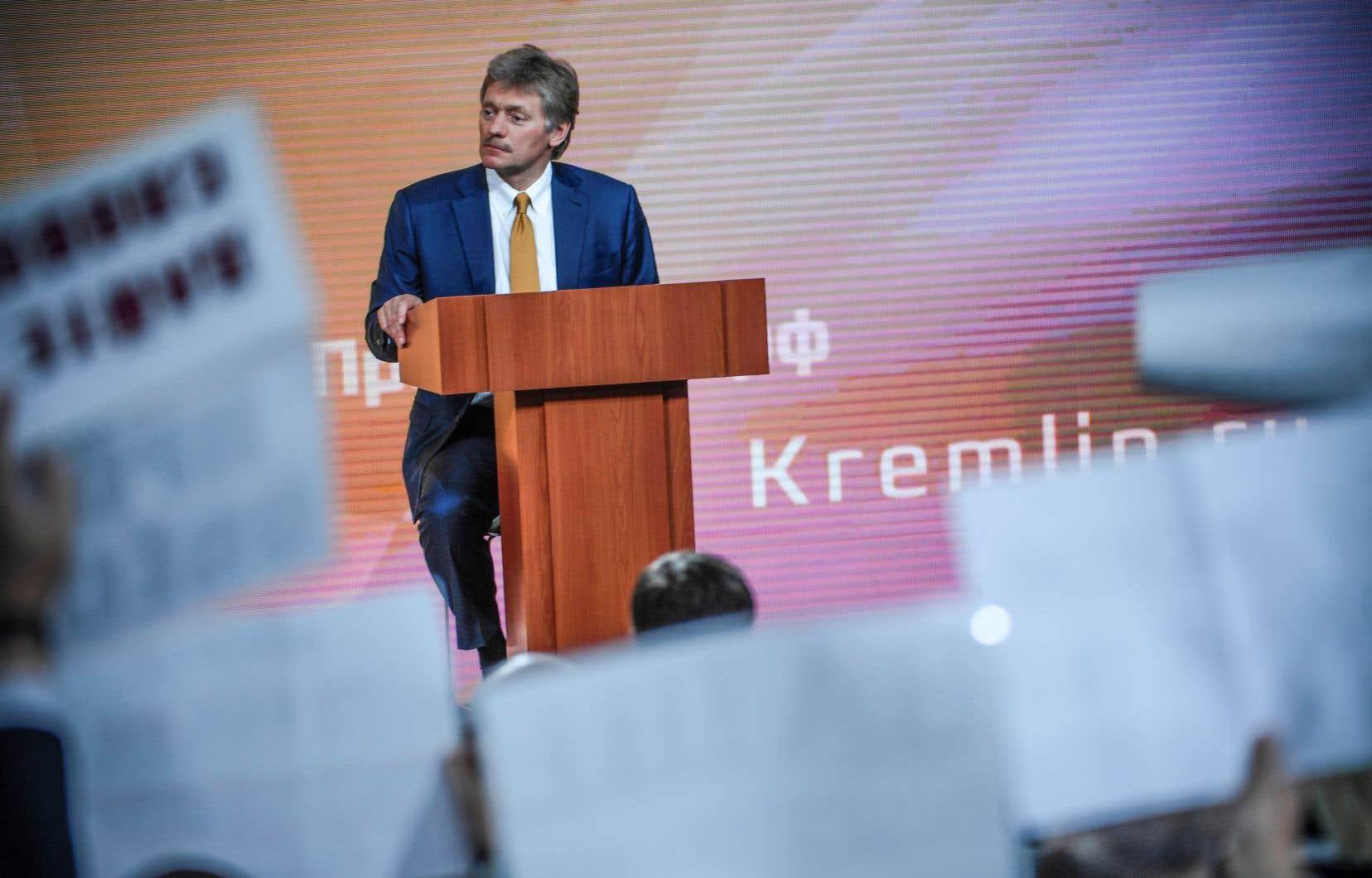 Le porte-parole du Kremlin, Dmitri Peskov, s'est dit prêt à coopérer sur la question du dopage.