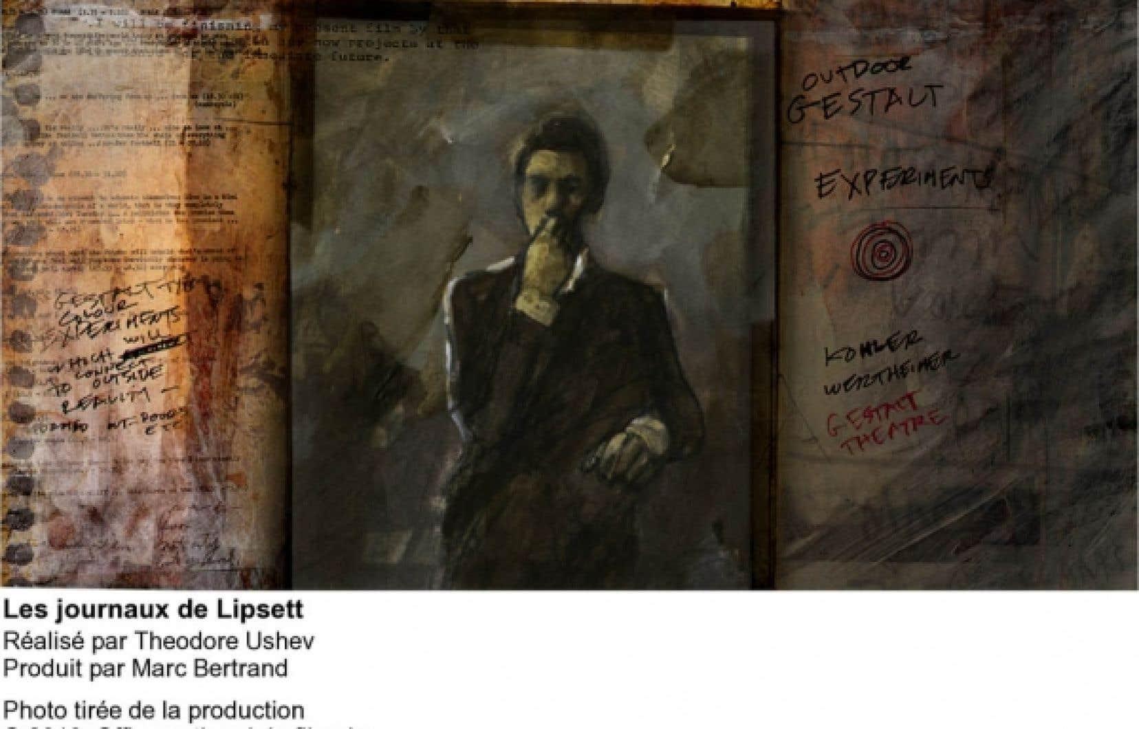 «Le film est fait avec des éléments de films de Lipsett, que j'ai transformés au crayon et à la peinture, puis retravaillés numériquement», explique le cinéaste Theodore Ushev.<br />