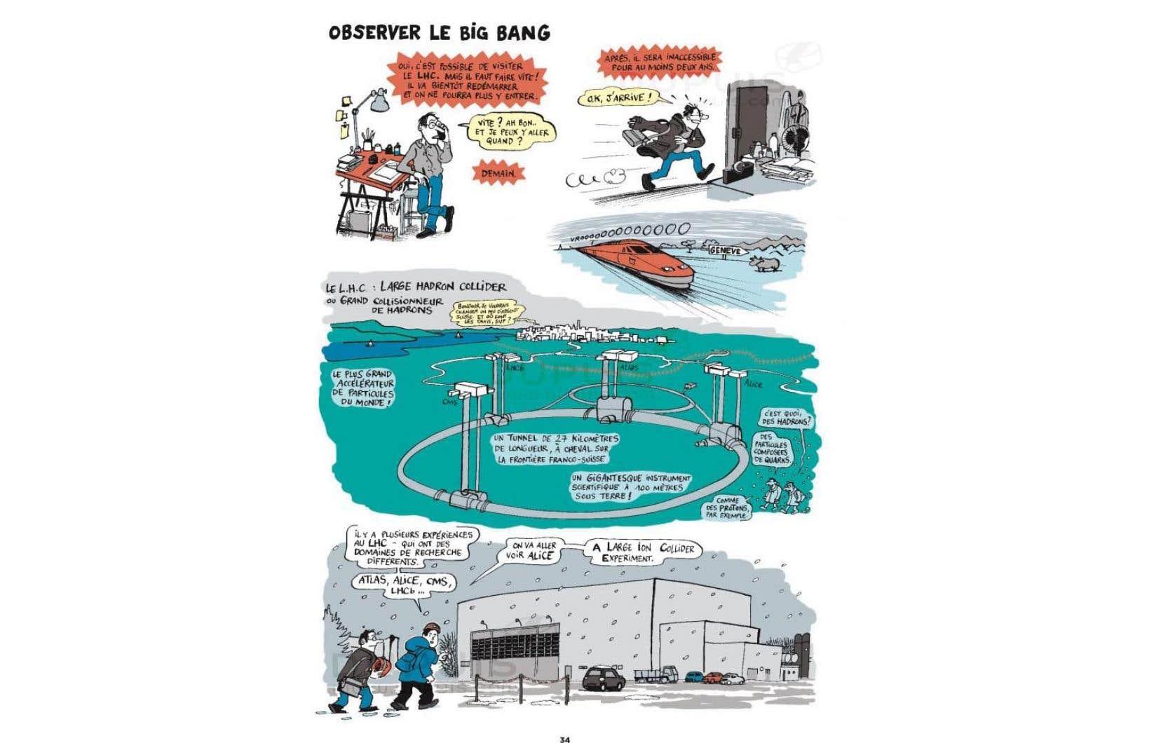 Jean-Yves Duhoo hésite à hiérarchiser ses sites pour citer un chouchou. Un peu forcé, il avoue tout de même avoir été impressionné par le Grand collisionneur de hadrons, près de Genève.