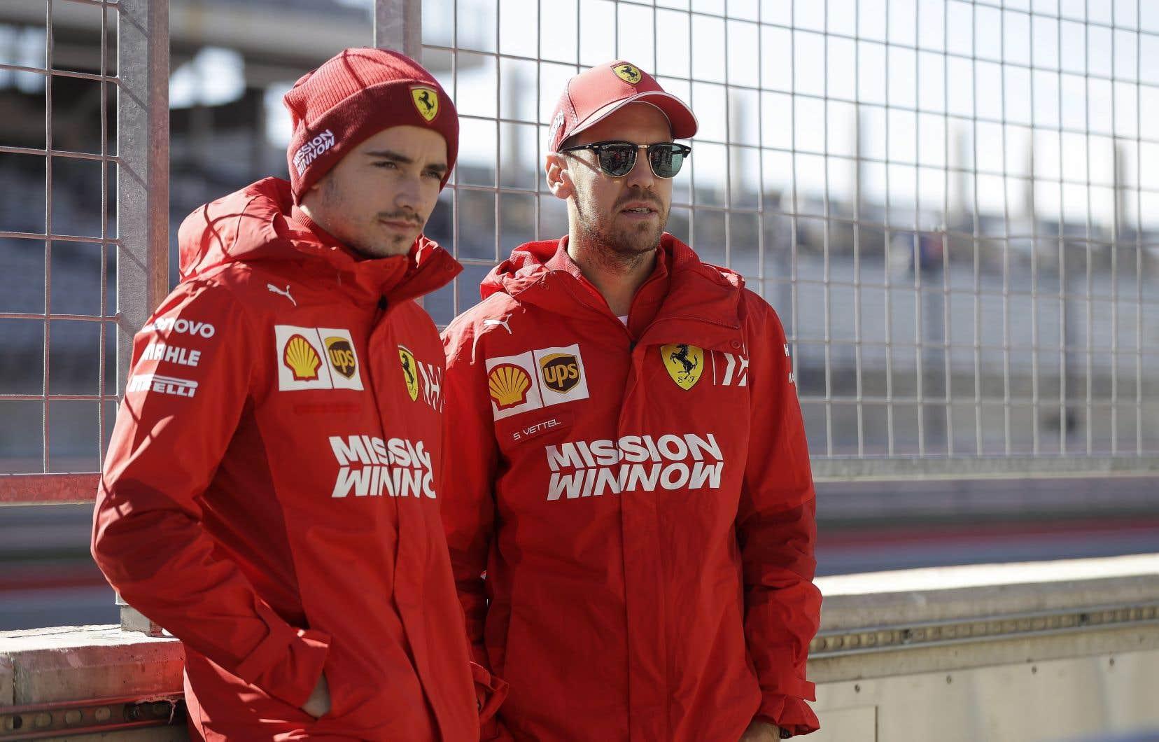 La rivalité entre Sebastian Vettel et Charles Leclerc chez Ferrari devrait être du dernier Grand Prix de la saison de F1.