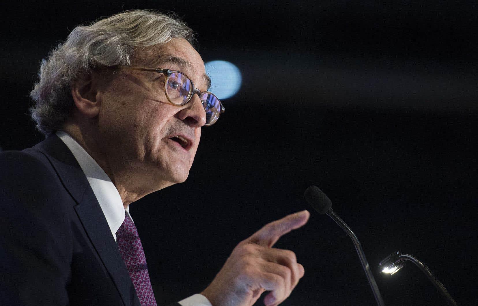 Le président sortant de la Caisse de dépôt et placement du Québec, Michael Sabia