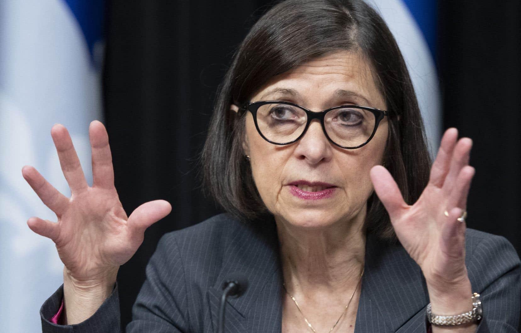 La ministre québécoise de la Santé, Danielle McCann