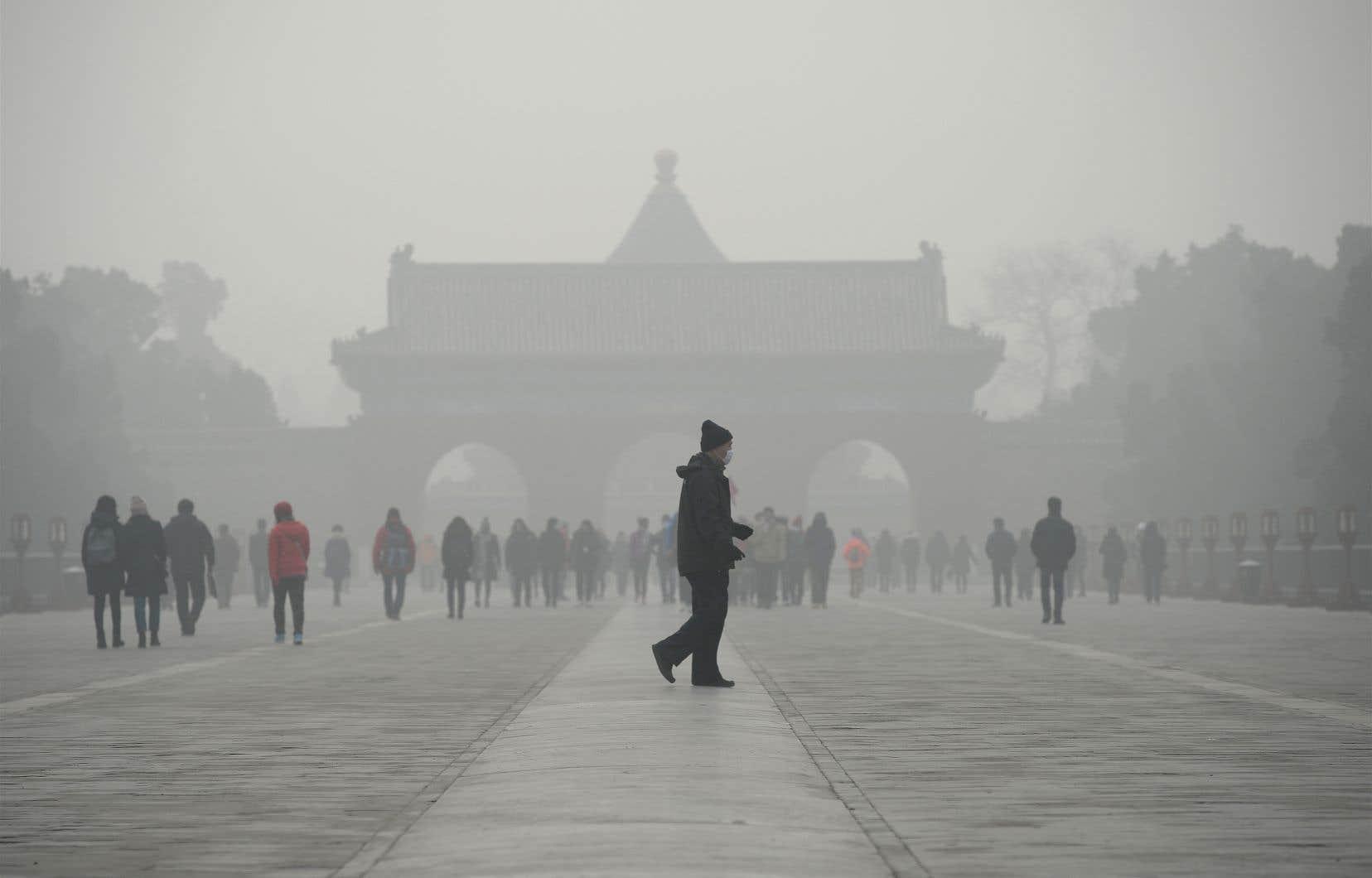 Dans le viseur de M.Guterres: les grands émetteurs de CO2, comme la Chine, qui connaît fréquemment des épisodes de smog.