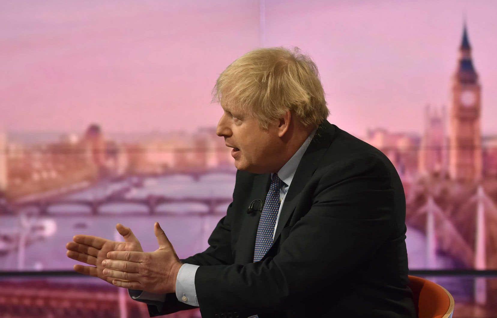 Boris Johnson a défendu sa position sur les ondes de la BBC dimanche.