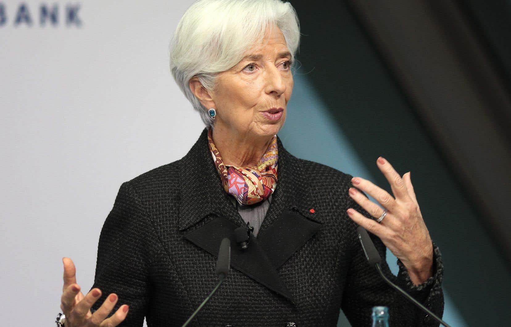 Plus de 160 associations et universitaires ont demandé la semaine dernière à Christine Lagarde (sur la photo) «d'agir en faveur du climat» à travers la politique monétaire.