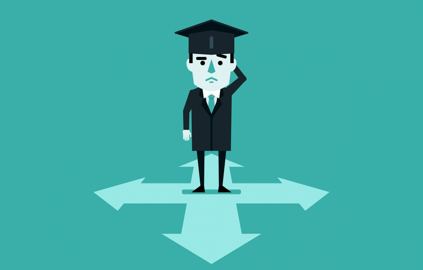 Une majorité des diplômés de maîtrise et de doctorat ne fera pas carrière à l'université.