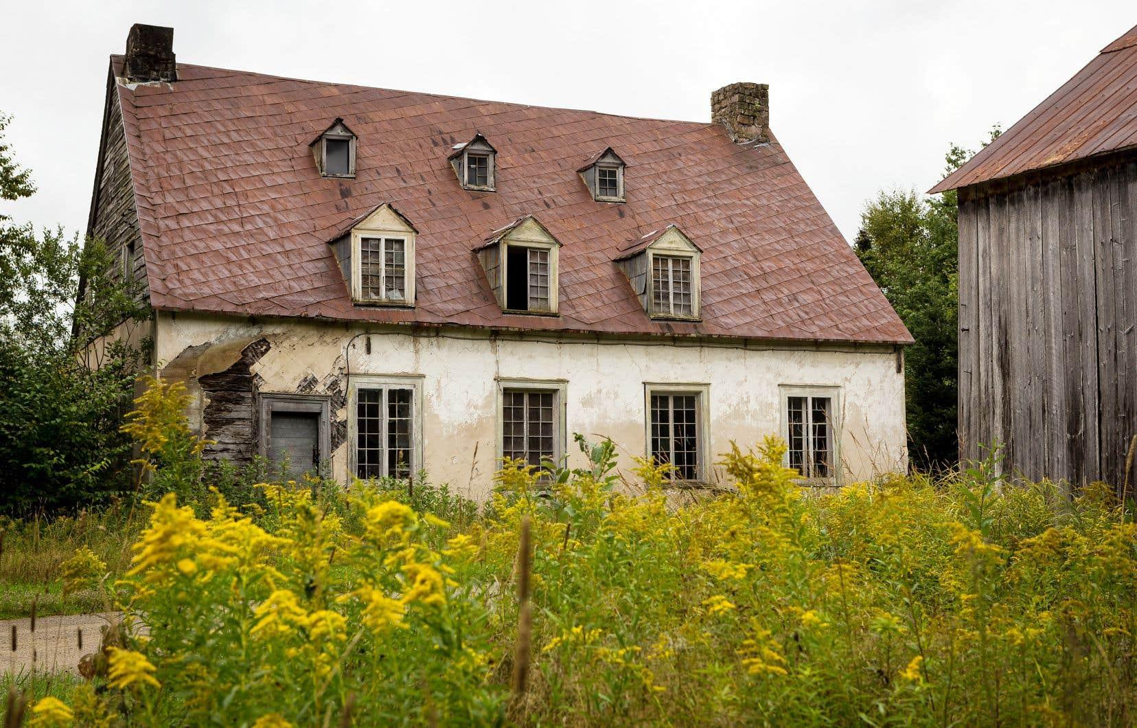 La maison de John Neilson (1776-1848), imprimeur et homme politique, à Saint-Gabriel-de-Valcartier, a été laissée à l'abandon.
