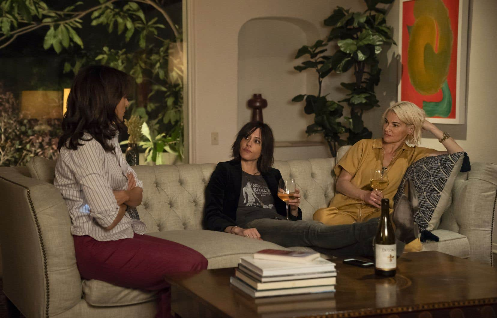 Jennifer Beals (Bette Porter), Katherine Moennig (Shane McCutcheon) et Leisha Hailey (Alice Pieszeckie) dans «Let's Do It Again»