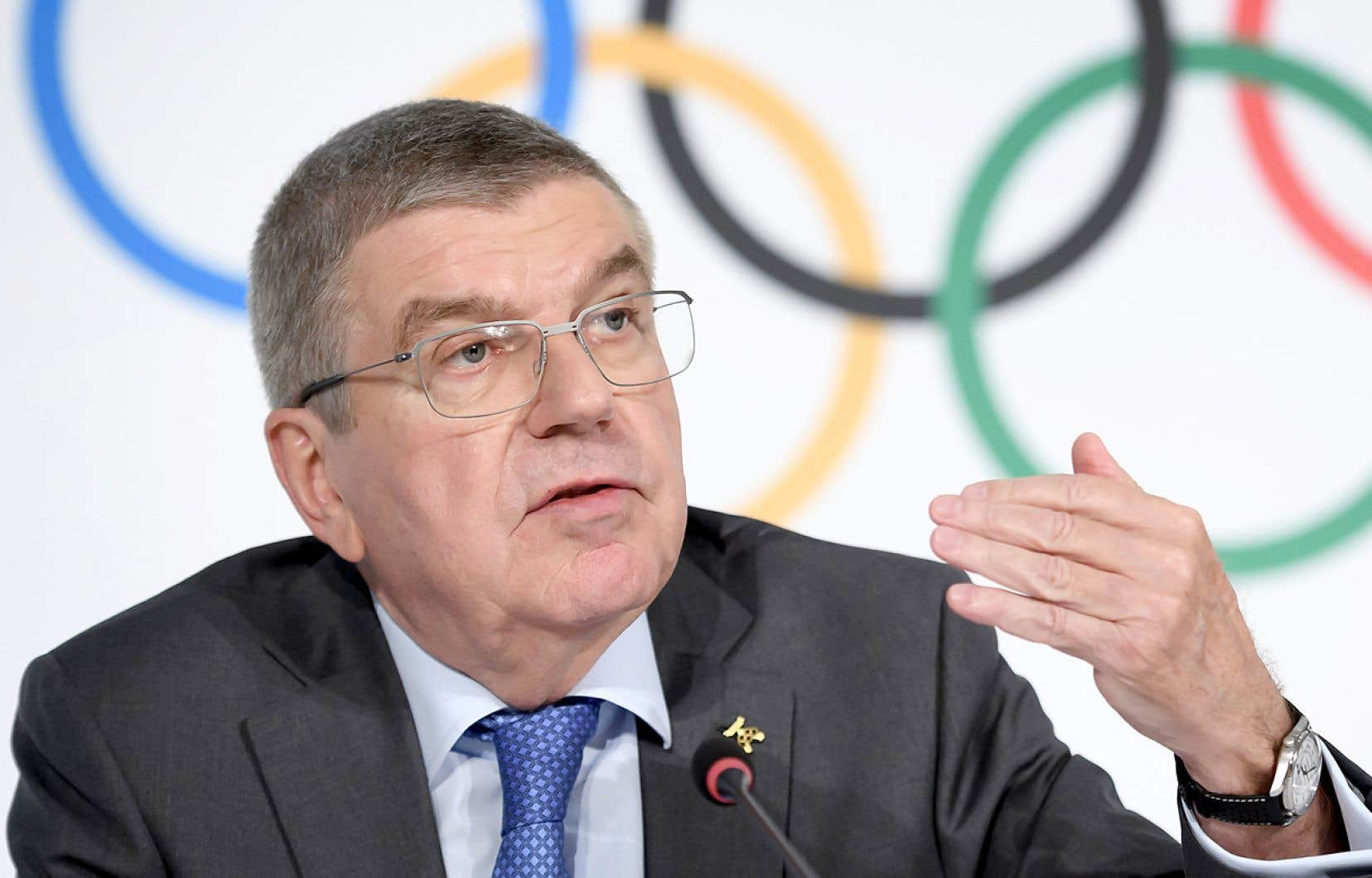 Le président du Comité international olympique Thomas Bach