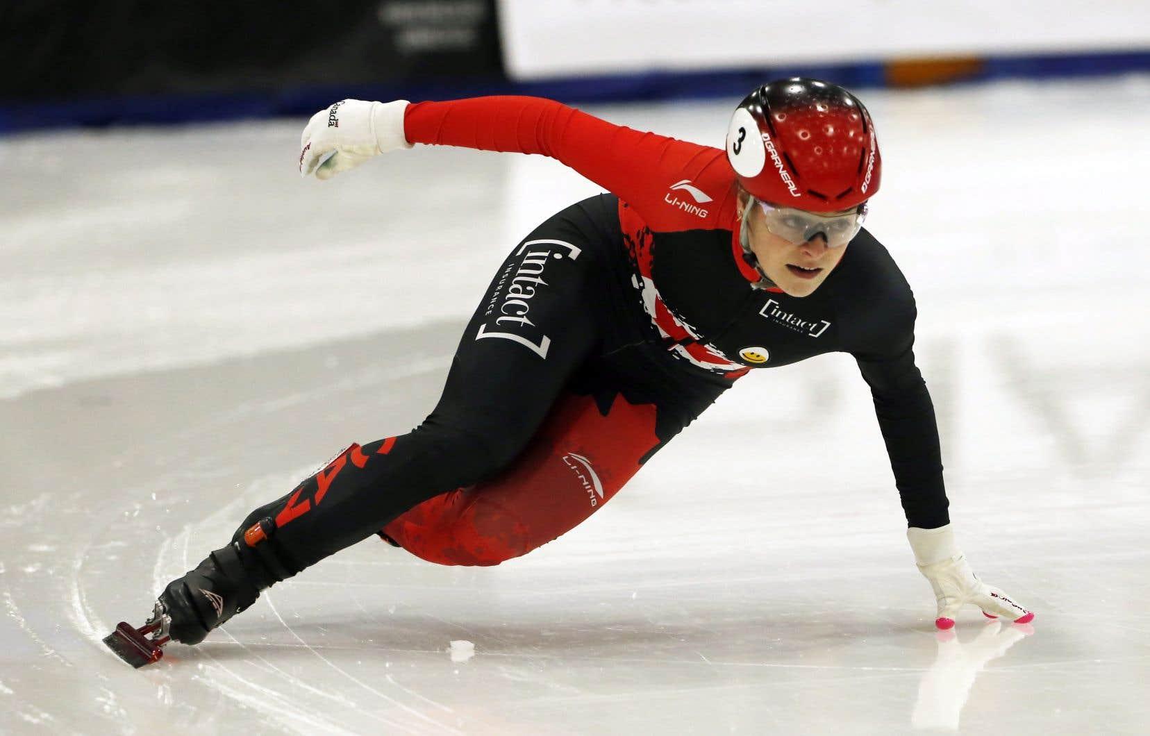 Boutin, de Sherbrooke, a d'abord remporté sa première médaille de bronze de la saison au 1000m, alors qu'elle a complété la course en une minute et 29,218 secondes.