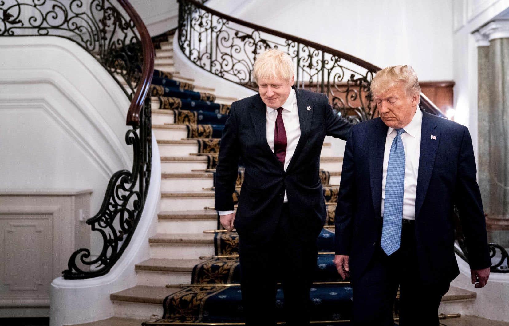 Boris Johnson et Donald Trump lors du dernier sommet du G7 à Biarritz, en France, en août