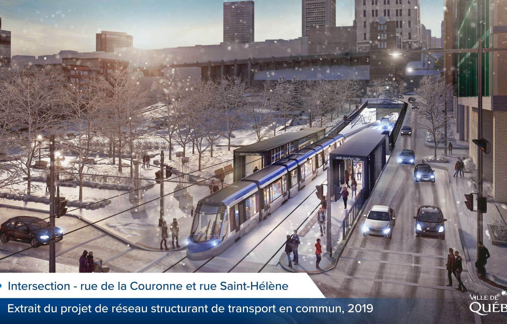 Dans le Vieux-Québec, le tramway passera sous terre à partir du boulevard René-Lévesque, jusque dans le cœur du quartier Saint-Roch.