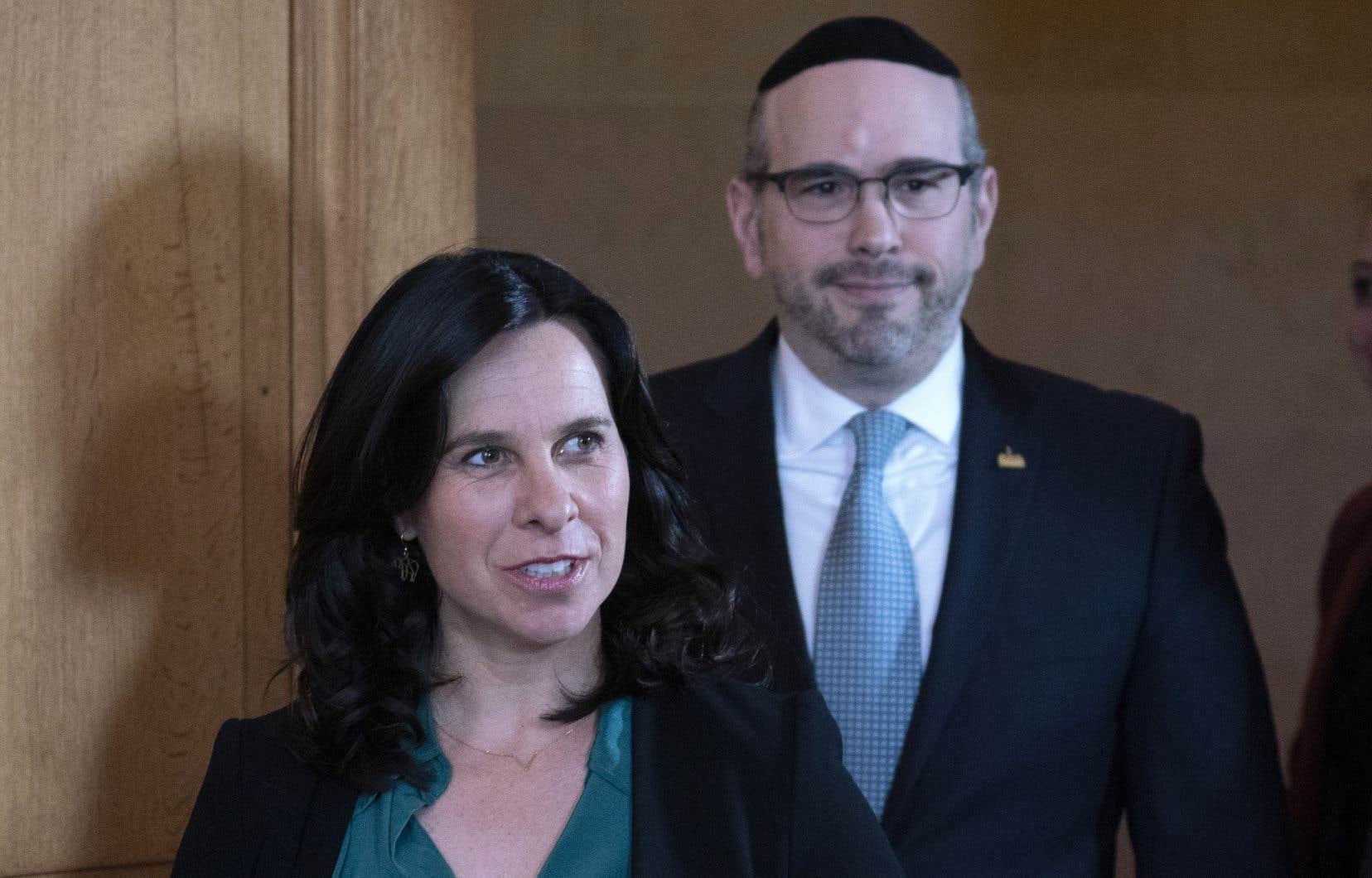 Le chef de l'opposition, Lionel Perez, et la mairesse Valérie Plante