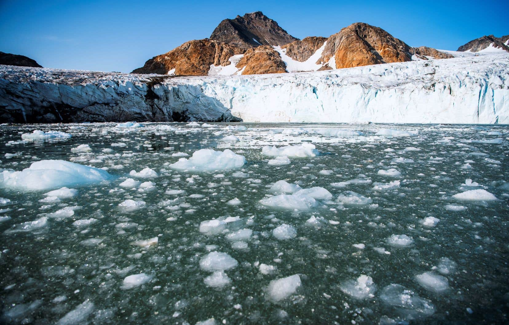 Les experts ont évalué que 48% de la perte de glace du Groenland est imputable au déplacement du glacier vers la mer.