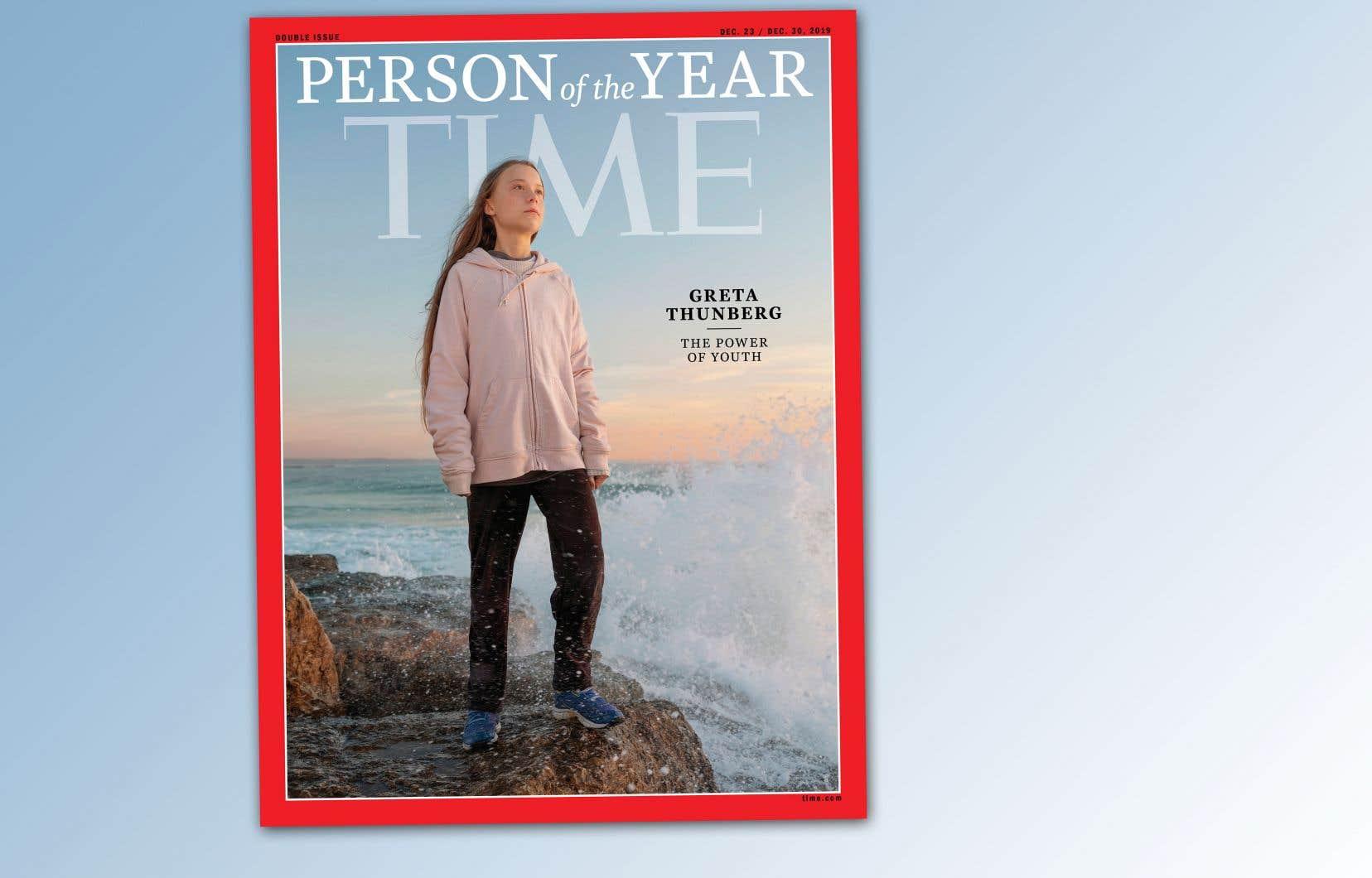 La couverture du magazine «Time» montrant Greta Thunberg