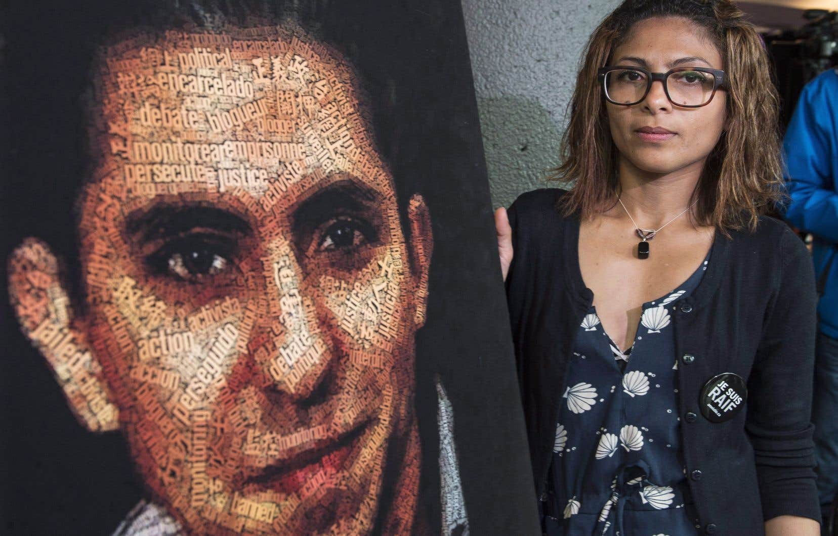 L'épouse du blogueur saoudien, Ensaf Haidar, photographiée en 2015