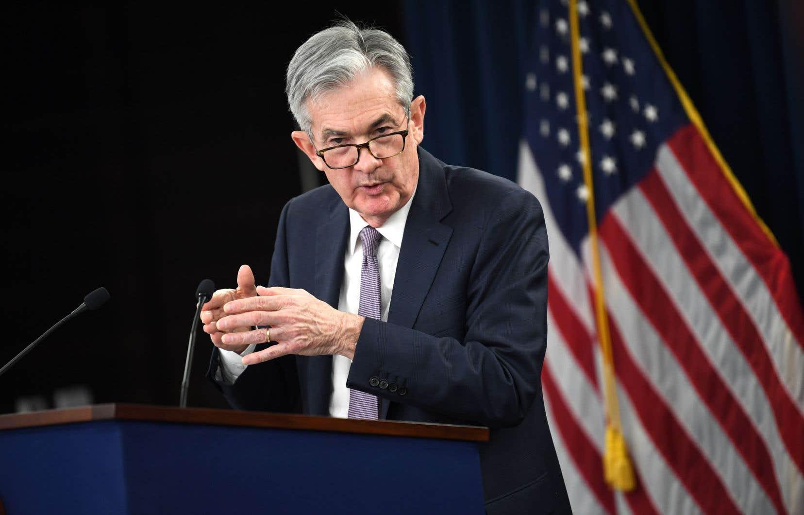 Le président de la banque centrale américaine, Jerome Powell, veut voir l'inflation «persister» avant de relever les taux.