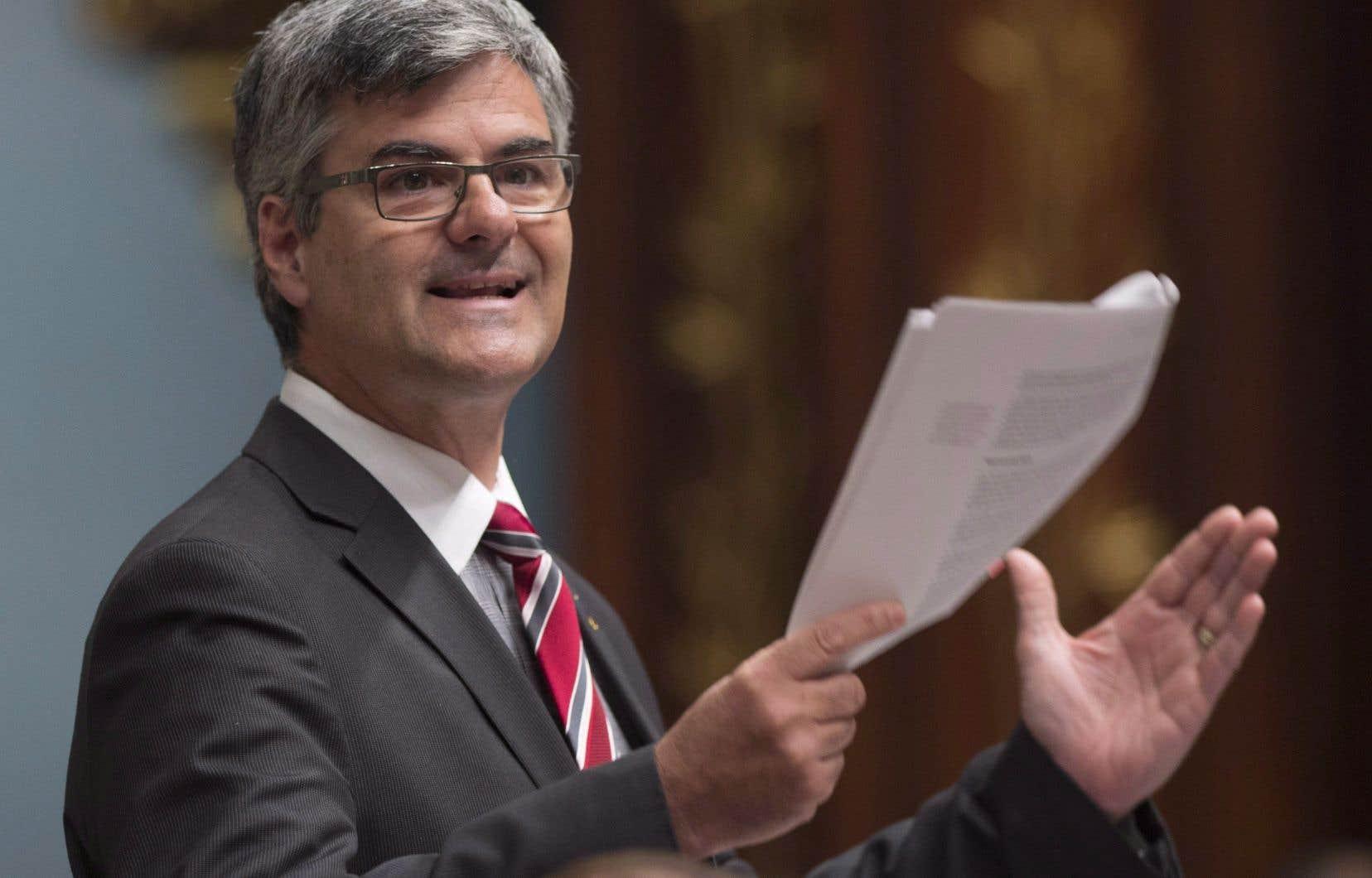 Le ministre délégué à la Transformation numérique gouvernementale, Éric Caire
