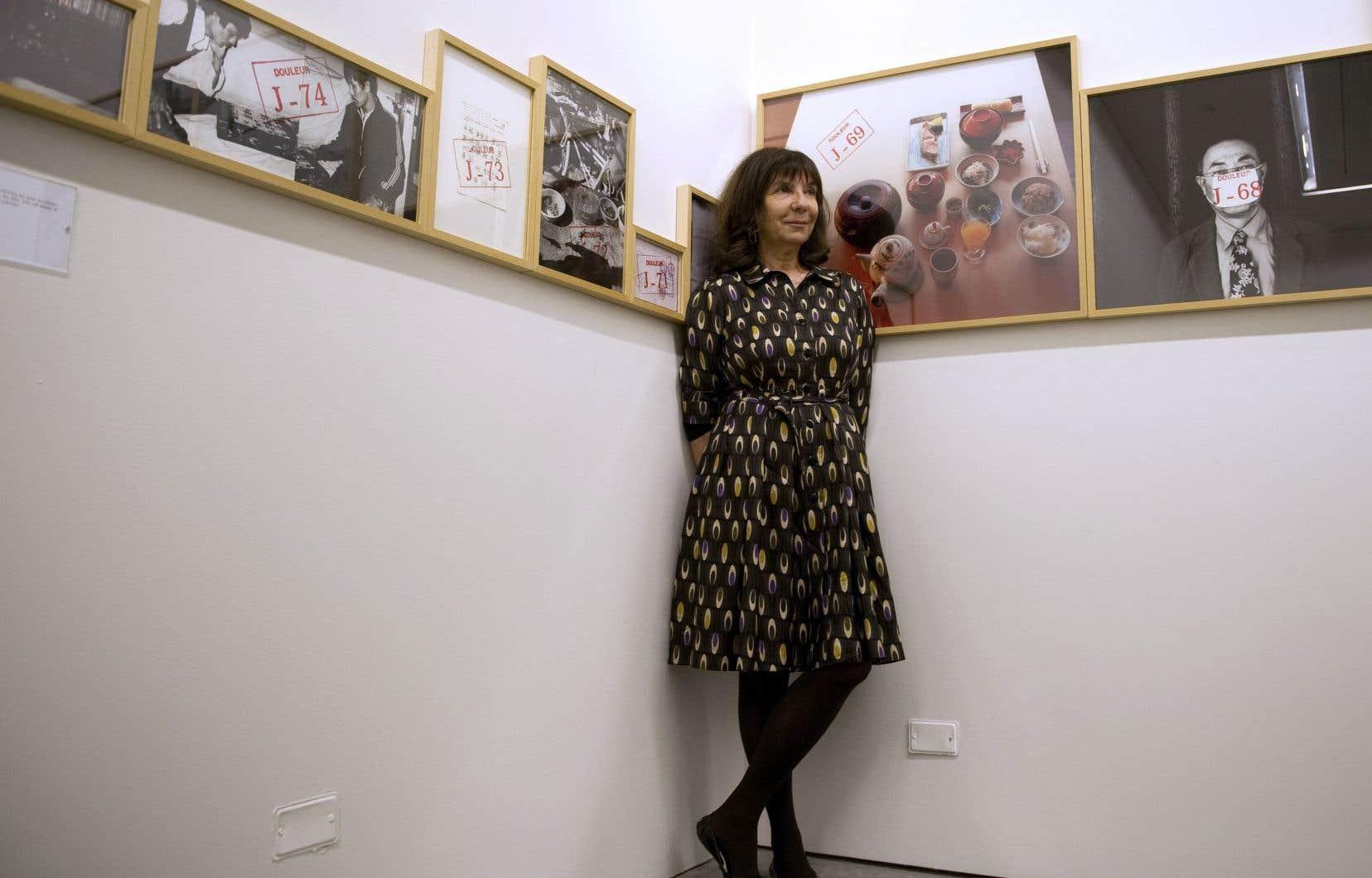 L'artiste Sophie Calle au Musée d'art moderne de Medellín, en Colombie, en 2012