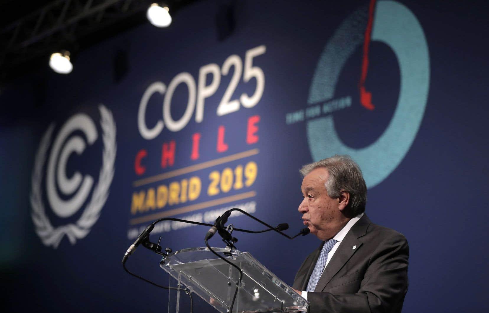 «Nous ne devons pas abandonner, et je n'abandonnerai pas», a affirmé lesecrétaire général de l'ONU,Antonio Guterres.