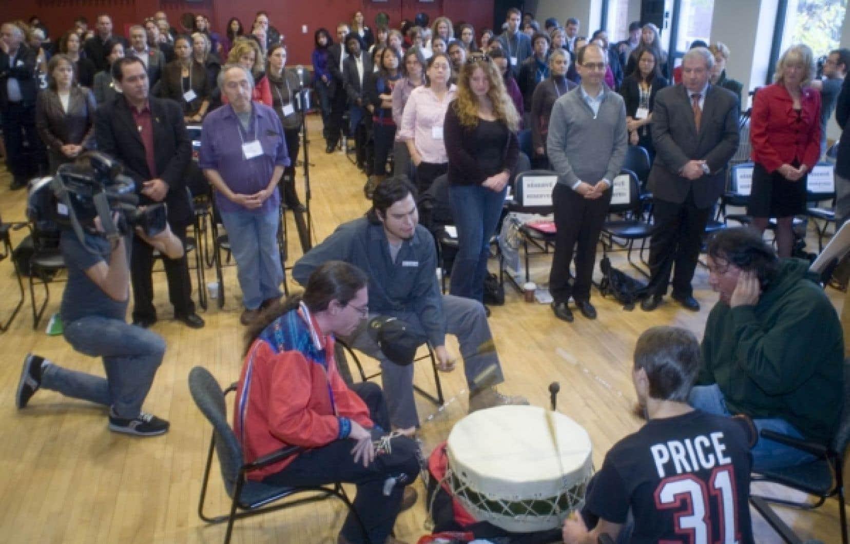 Des représentants des autochtones et des gouvernements ont annoncé hier la création du réseau.