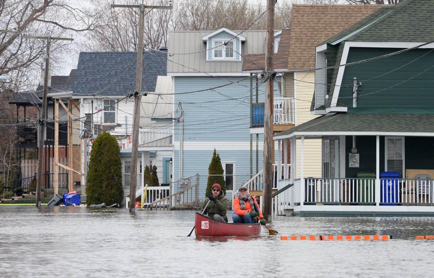 La nouvelle crue record de la rivière des Outaouais, en mai dernier, arrive en tête du palmarès.
