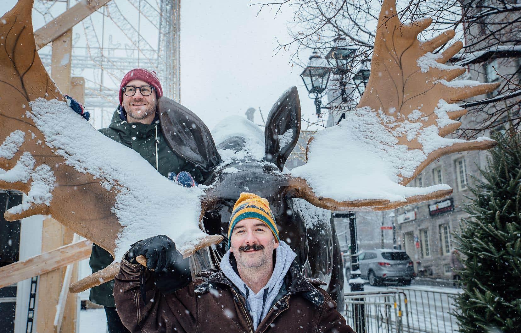 Le fondateur et le designer de Montréal en Fêtes, Martin Durocher (en haut) et Chris Koser