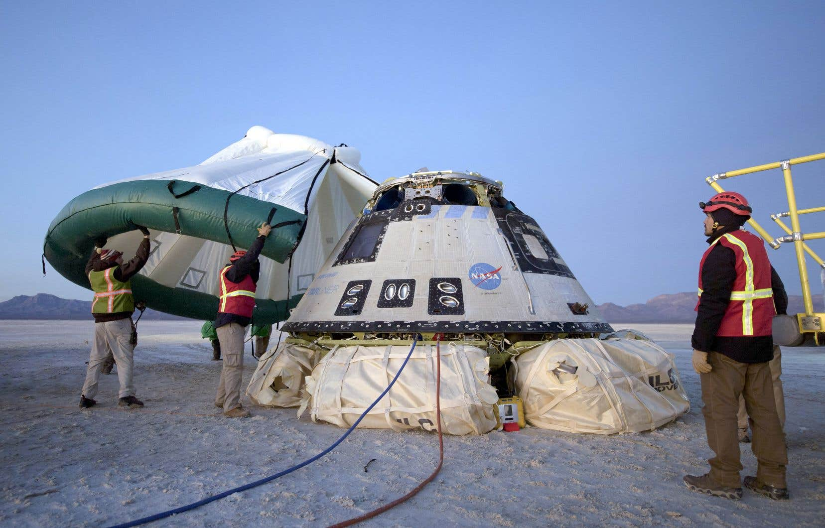 «Starliner» a atterri dimanche sur la base de White Sands, un morceau de désert de l'armée dans le Nouveau-Mexique, à 5h58 (7 h 58 à Montréal).