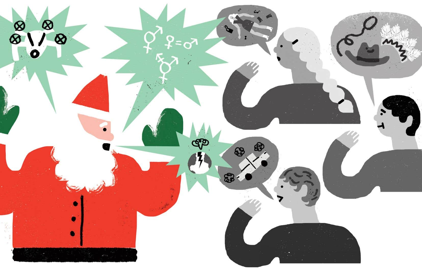 <p>Pour illustrer son propos, Gaétan Guay-Tanguay laissa glisser son regard sur son interlocuteur, de haut en bas. Dans sa confusion initiale, Prosper Noël n'avait pas prêté attention à son propre habillement.</p>