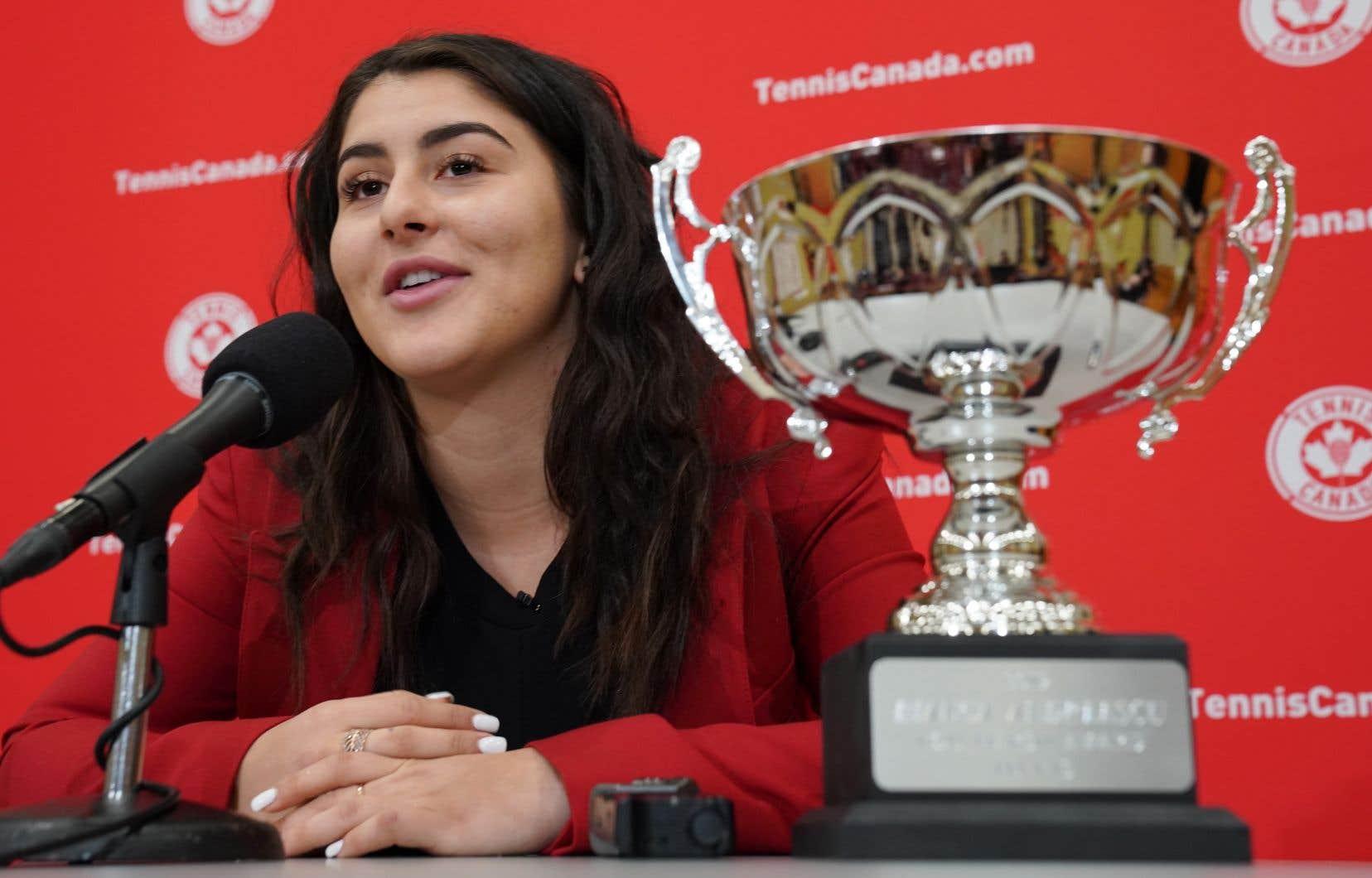 La liste des succès d'Andreescu au cours des 12 derniers mois est longue.