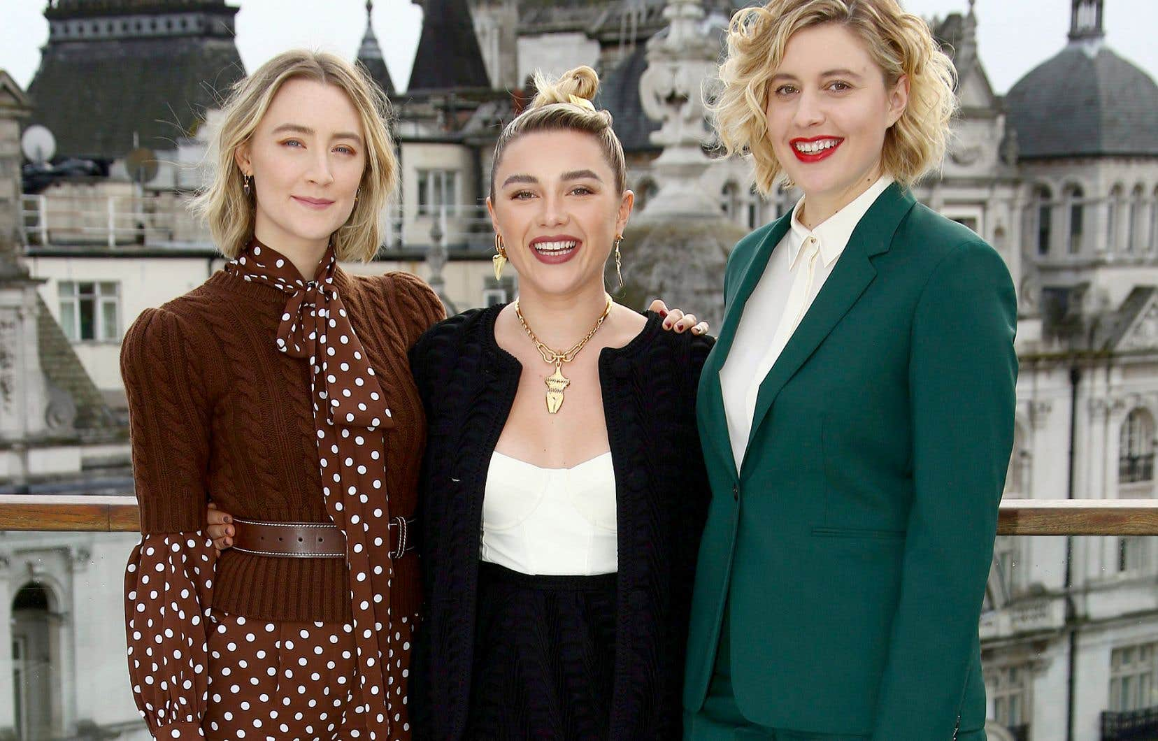Greta Gerwig (à droite) a réalisé le film«Little Women», dans lequel jouent les actrices Saoirse Ronan (à gauche) et Florence Pugh.