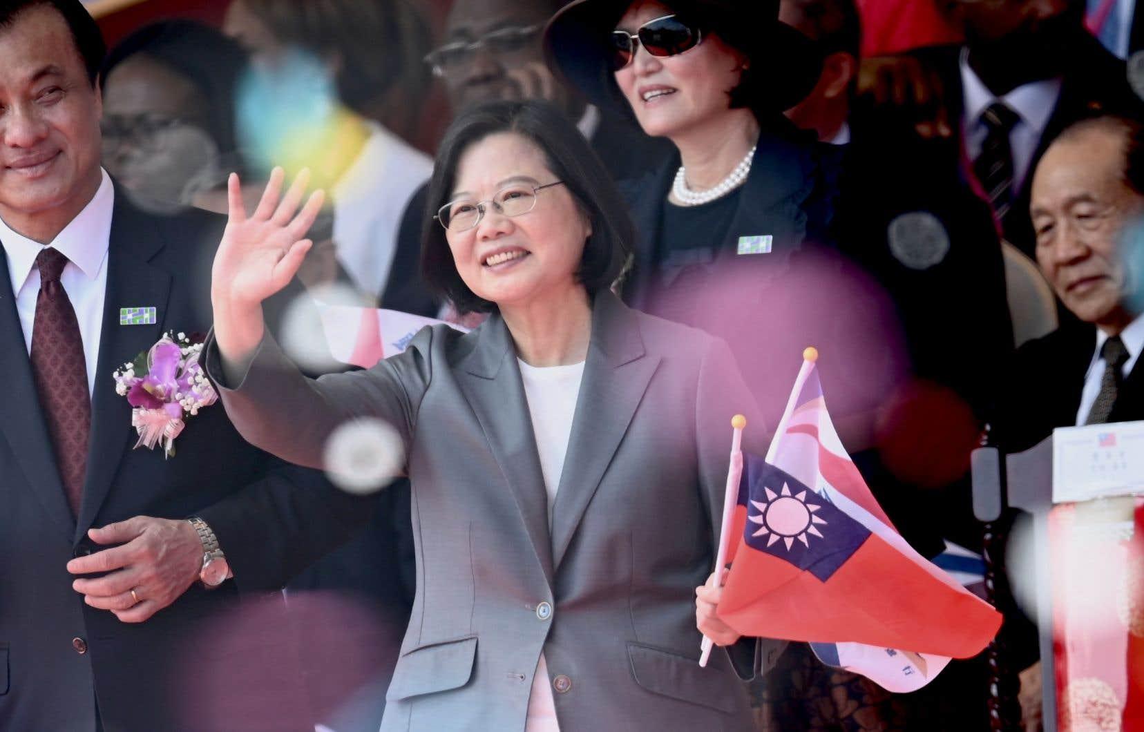La présidente Tsai Ing-wen, 63ans, qui briguera le 11janvier un deuxième mandat.