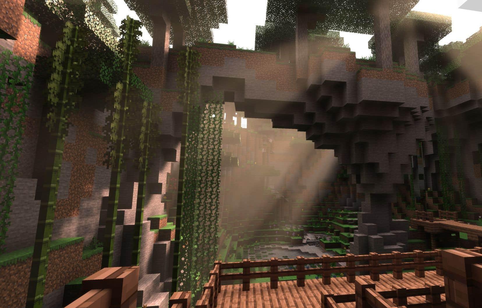 Une version de <i>Minecraft </i>faisant usage du lancer de rayons a été annoncée en août dernier.