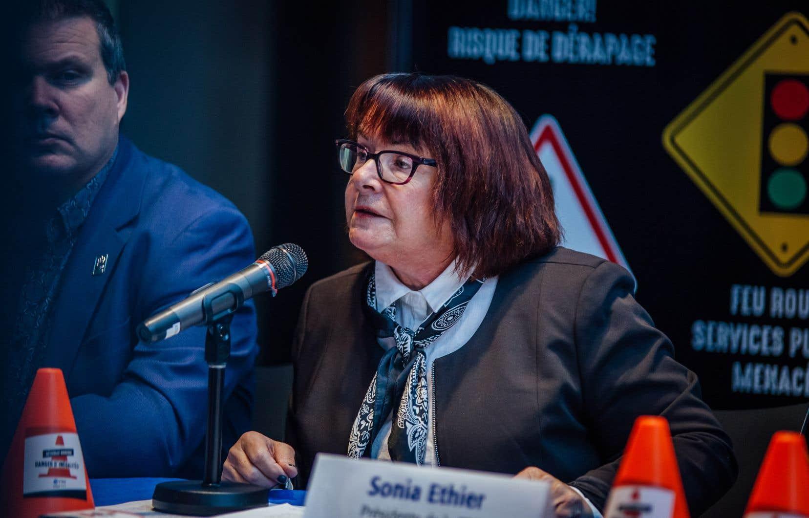 Sonia Éthier, présidente de la Centrale des syndicats du Québec (CSQ)