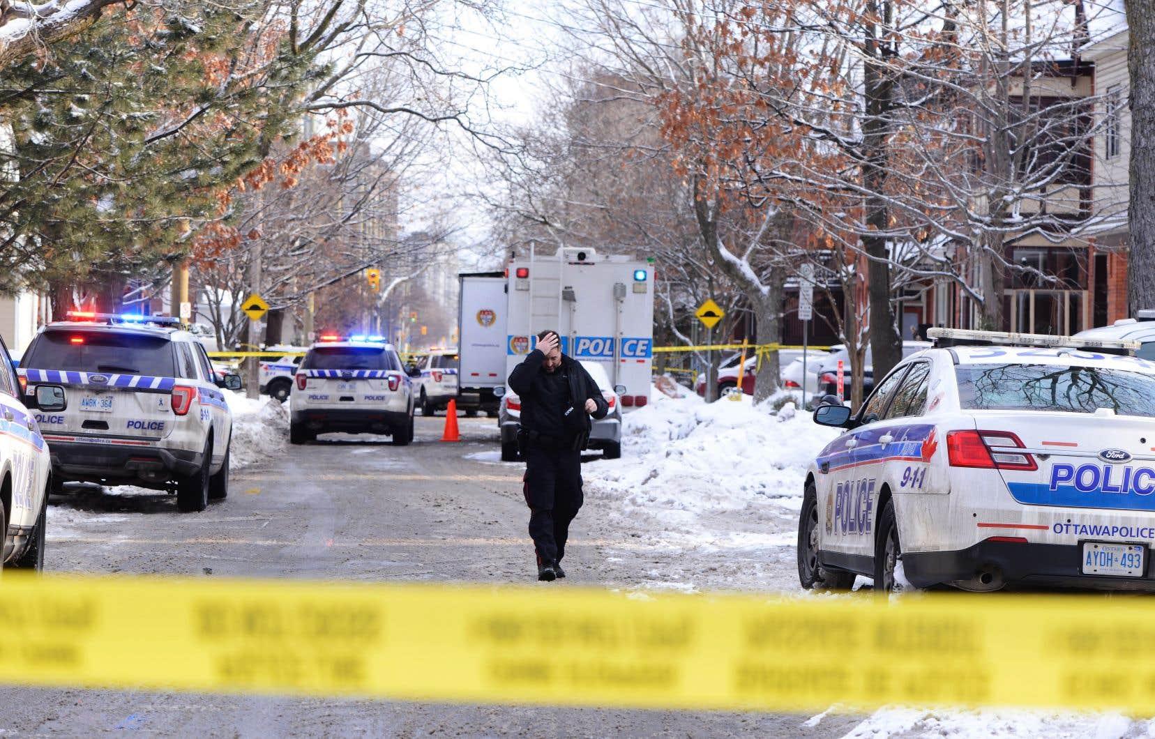 Le lieu de la fusillade est à une dizaine de rues au sud de la colline du Parlement.<br />