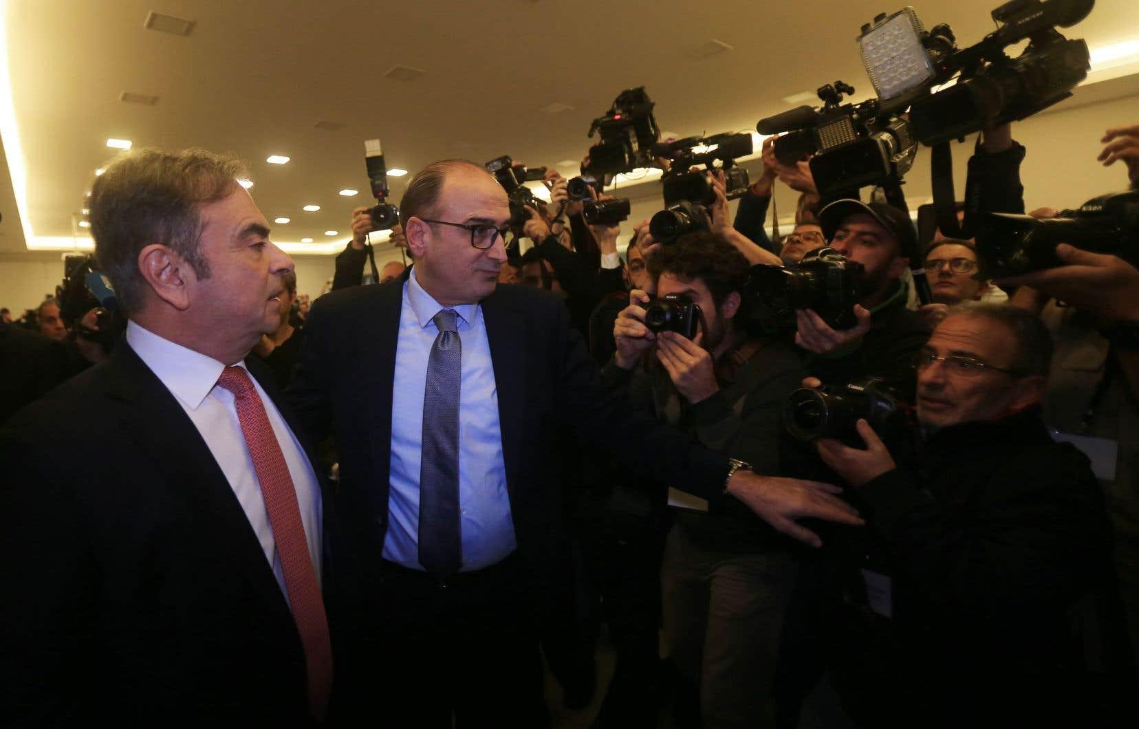 Accusé d'abus de confiance et de ne pas avoir déclaré des revenus par la justice japonaise, Carlos Ghosn s'est présenté devant la presse internationale, mercredi, à Beyrouth, pour la première fois depuis sa fuite rocambolesque du Japon.