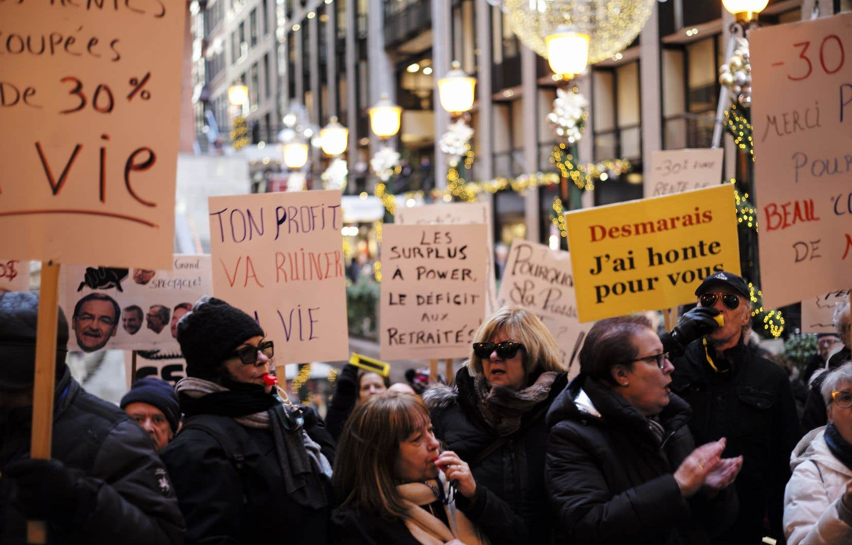 Les retraités (ici lors d'une manifestation en décembre dernier) en ont notamment contre les instances qui devaient s'exprimer en leur nom.