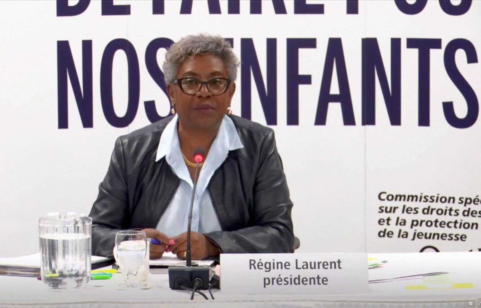 La Commission spéciale sur les droits des enfants et la protection de la jeunesse, présidée par Régine Laurent, a entendu plusieurs universitaires, mercredi, à Montréal.