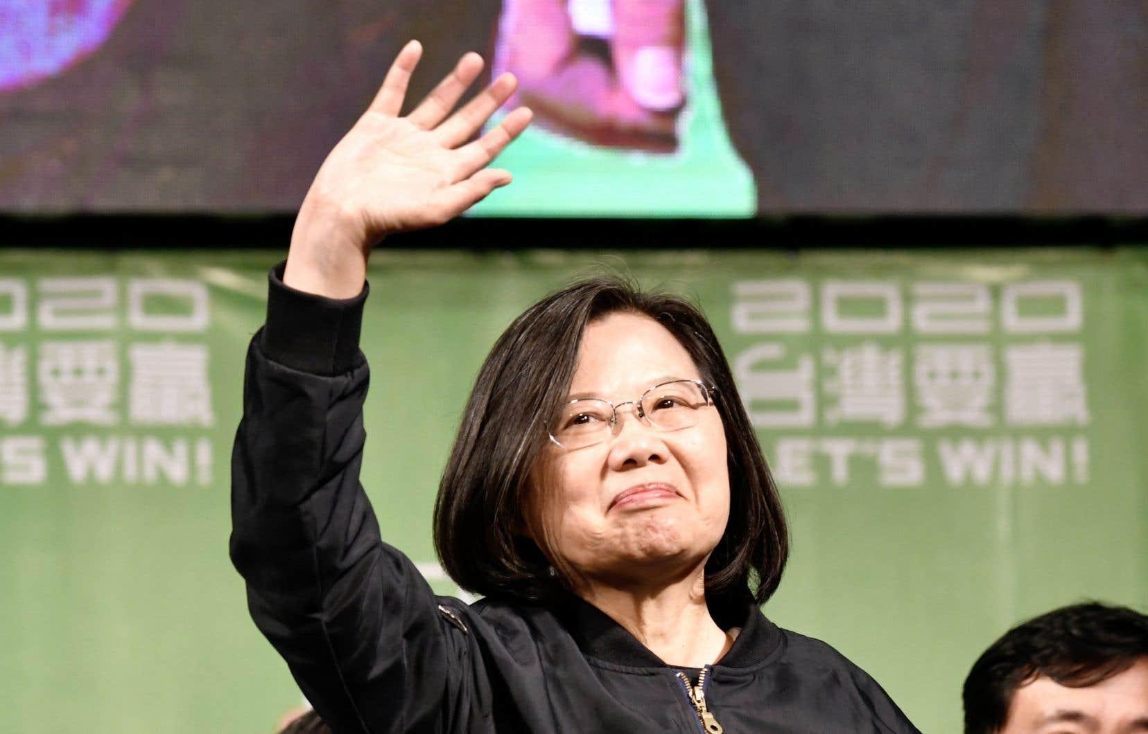 «Taïwan a montré au monde à quel point nous aimons notre mode de vie libre et démocratique ainsi que notre nation», a lancé MmeTsai samedi.
