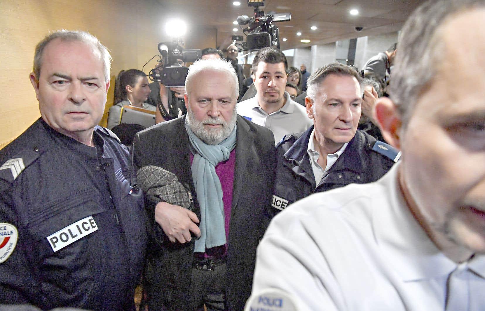 Bernard Preynat, âgé de 74ans, a comparu, mardi, au palais de justice de Lyon pour des actes commis entre 1971 et 1991, quand les victimes étaient âgées de 7 à 15ans.
